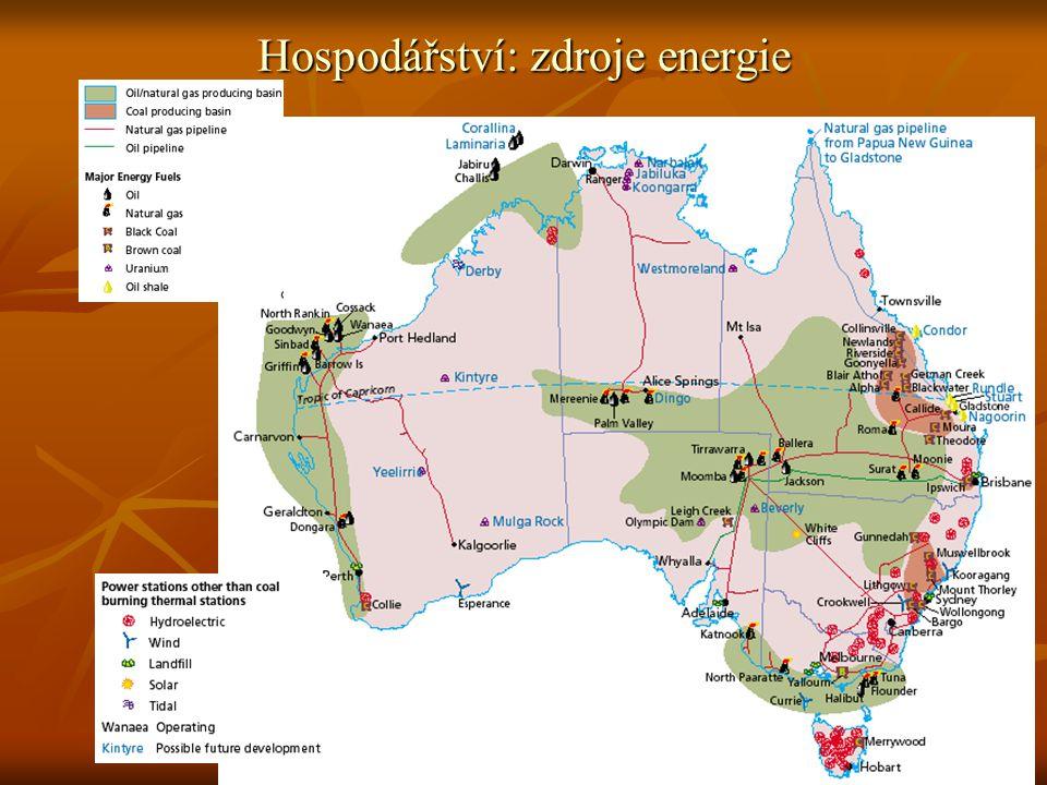 Hospodářství: zdroje energie