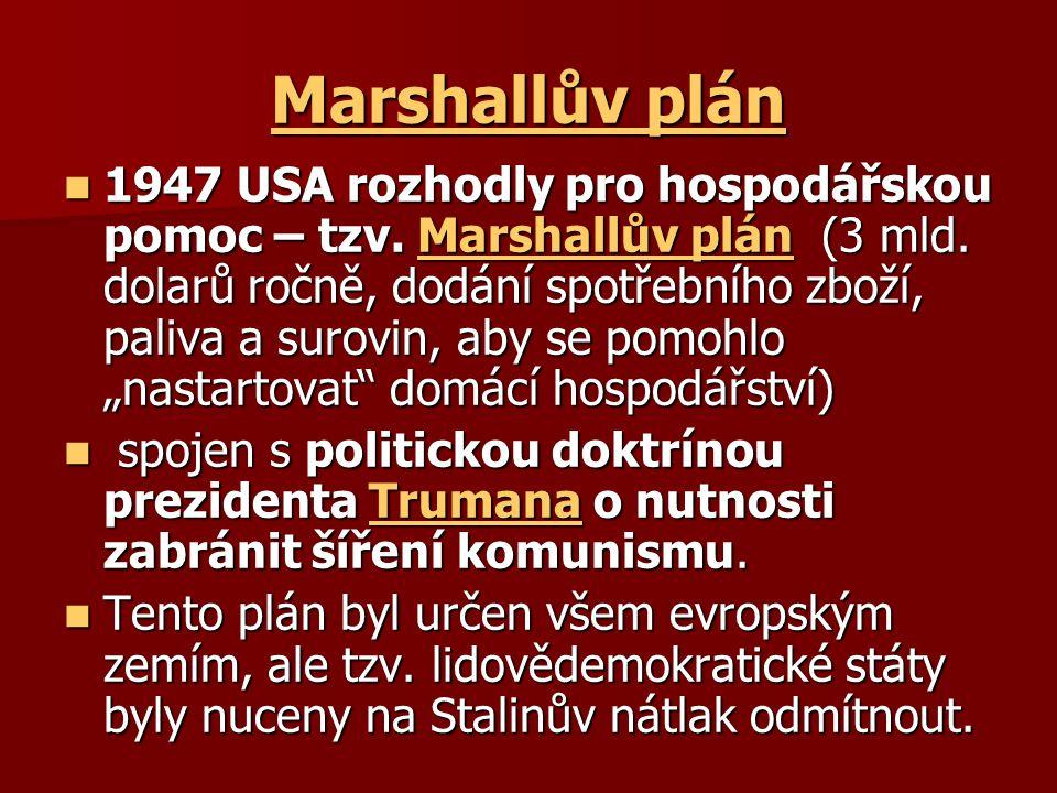 Výsledek obrázku pro foto marshallův plán