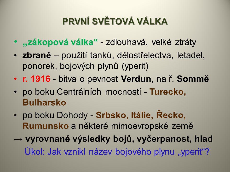 """Úkol: Jak vznikl název bojového plynu """"yperit"""