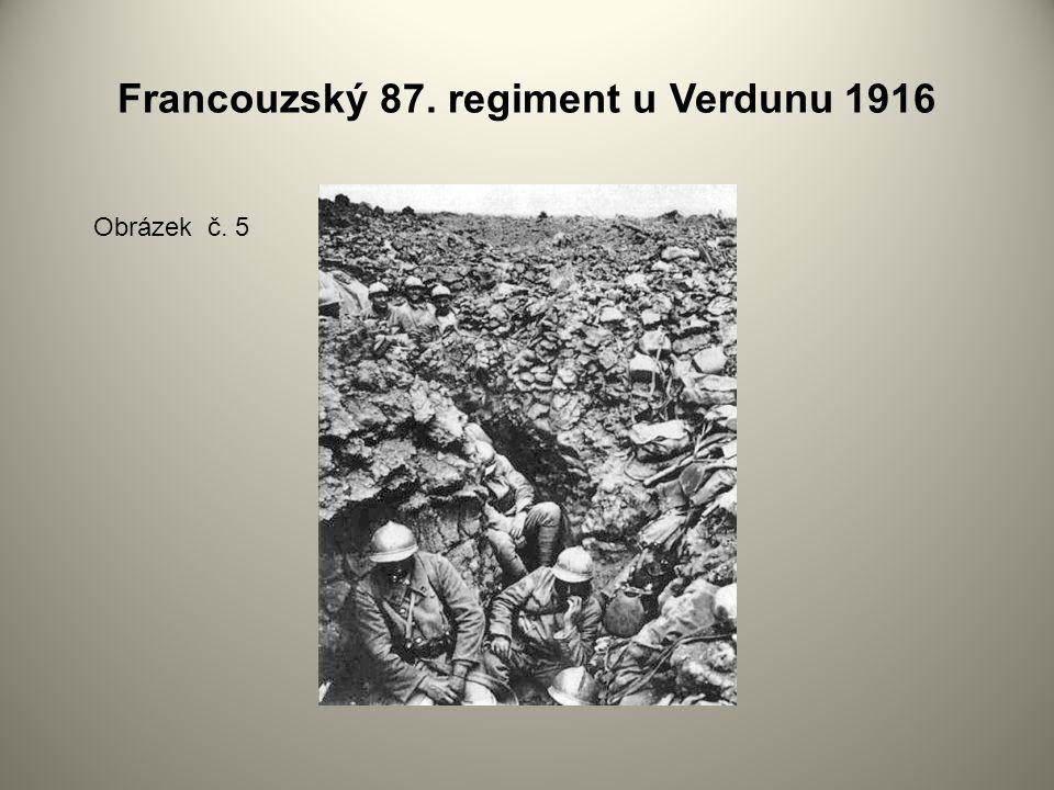 Francouzský 87. regiment u Verdunu 1916