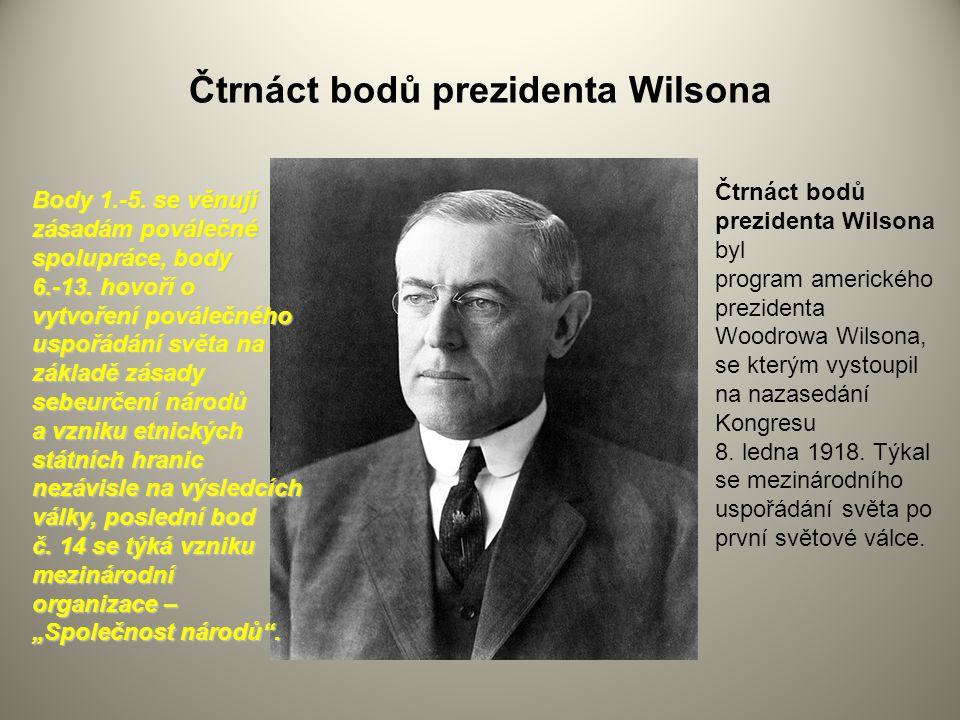 Čtrnáct bodů prezidenta Wilsona