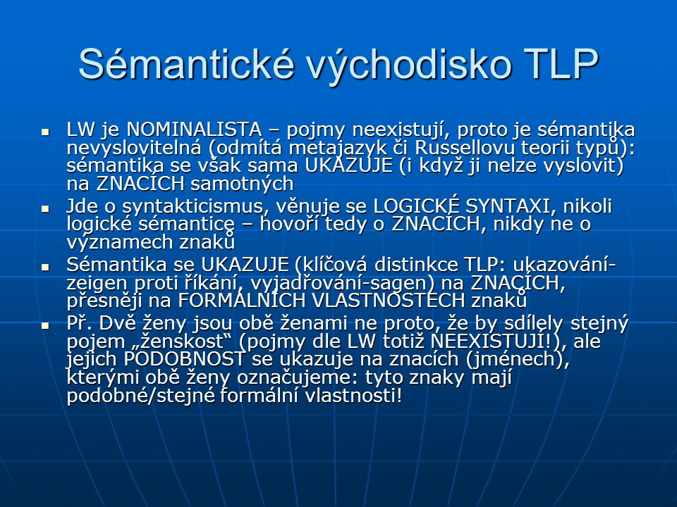 Sémantické východisko TLP