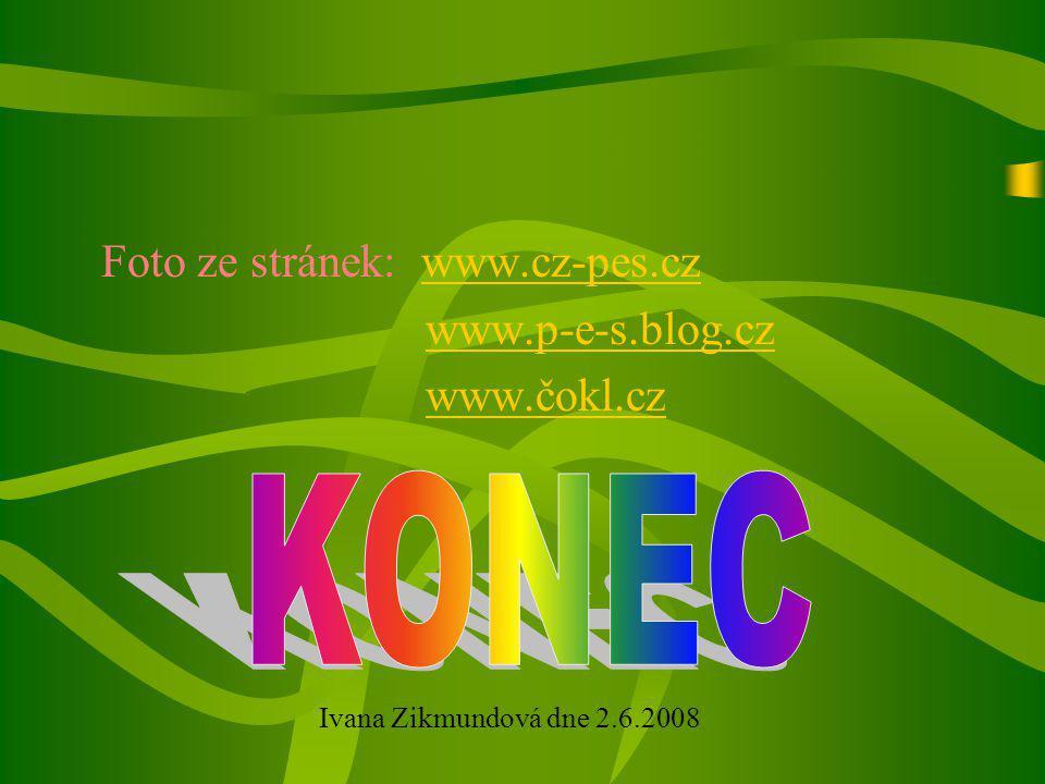 KONEC Foto ze stránek: www.cz-pes.cz www.p-e-s.blog.cz www.čokl.cz