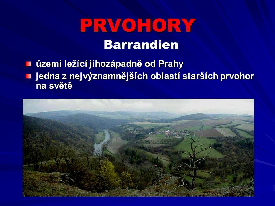 PRVOHORY Barrandien území ležící jihozápadně od Prahy