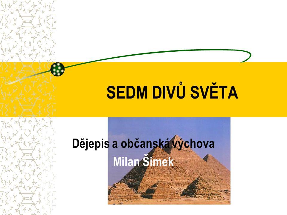 Dějepis a občanská výchova Milan Šimek