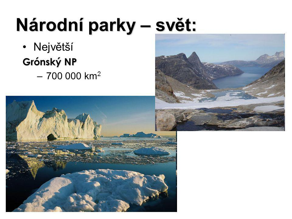 Národní parky – svět: Největší Grónský NP 700 000 km2