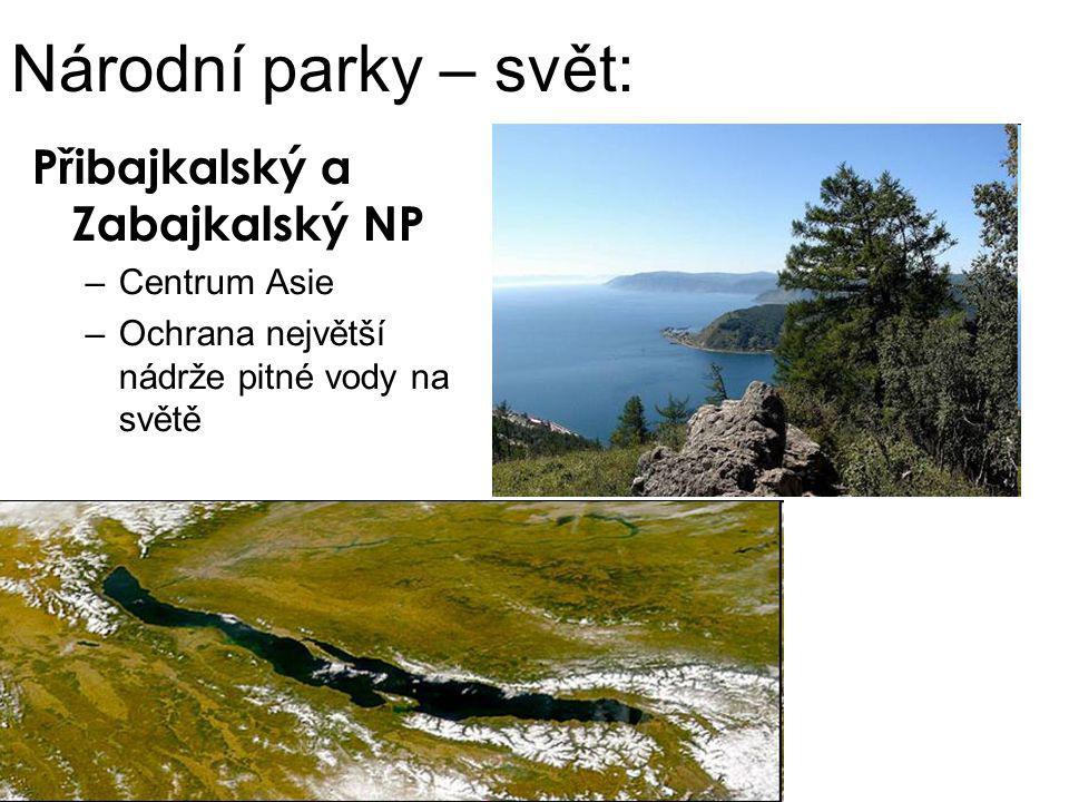Národní parky – svět: Přibajkalský a Zabajkalský NP Centrum Asie