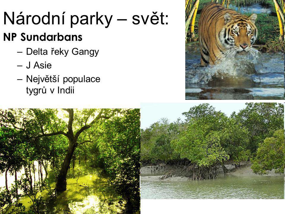 Národní parky – svět: NP Sundarbans Delta řeky Gangy J Asie