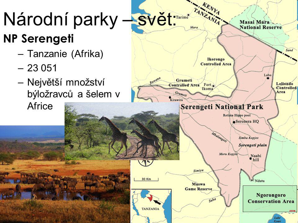Národní parky – svět: NP Serengeti Tanzanie (Afrika) 23 051