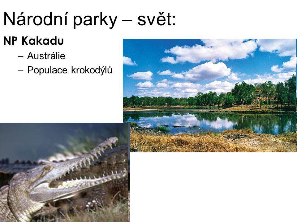 Národní parky – svět: NP Kakadu Austrálie Populace krokodýlů