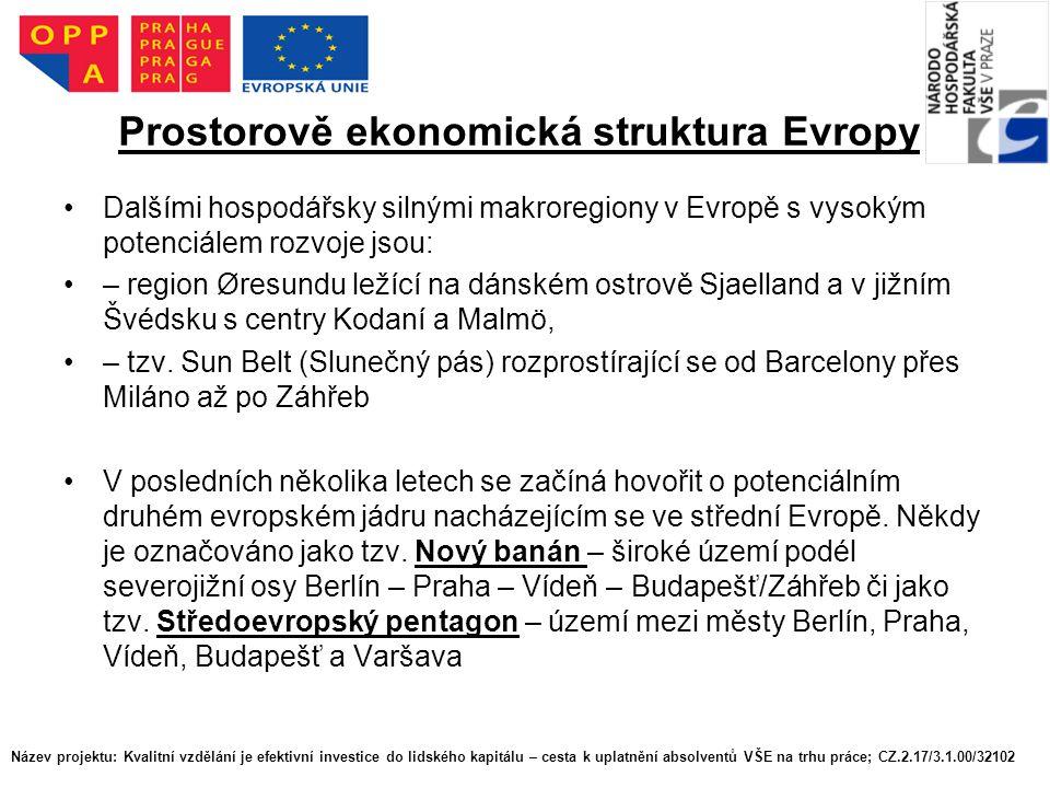Prostorově ekonomická struktura Evropy