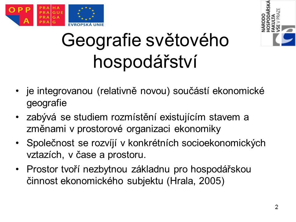Geografie světového hospodářství