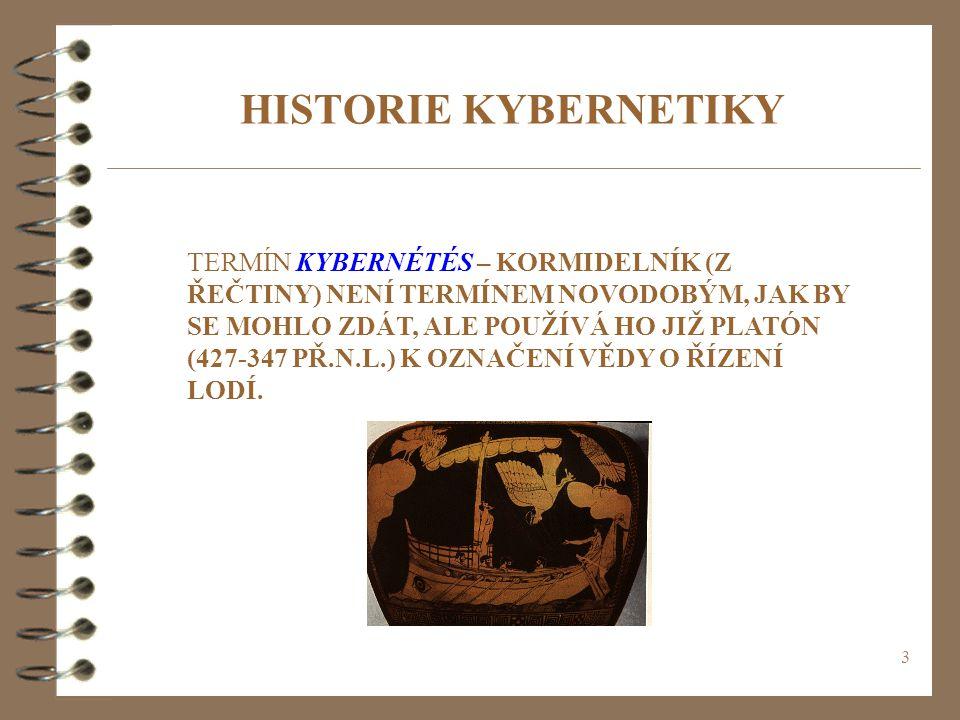 HISTORIE KYBERNETIKY
