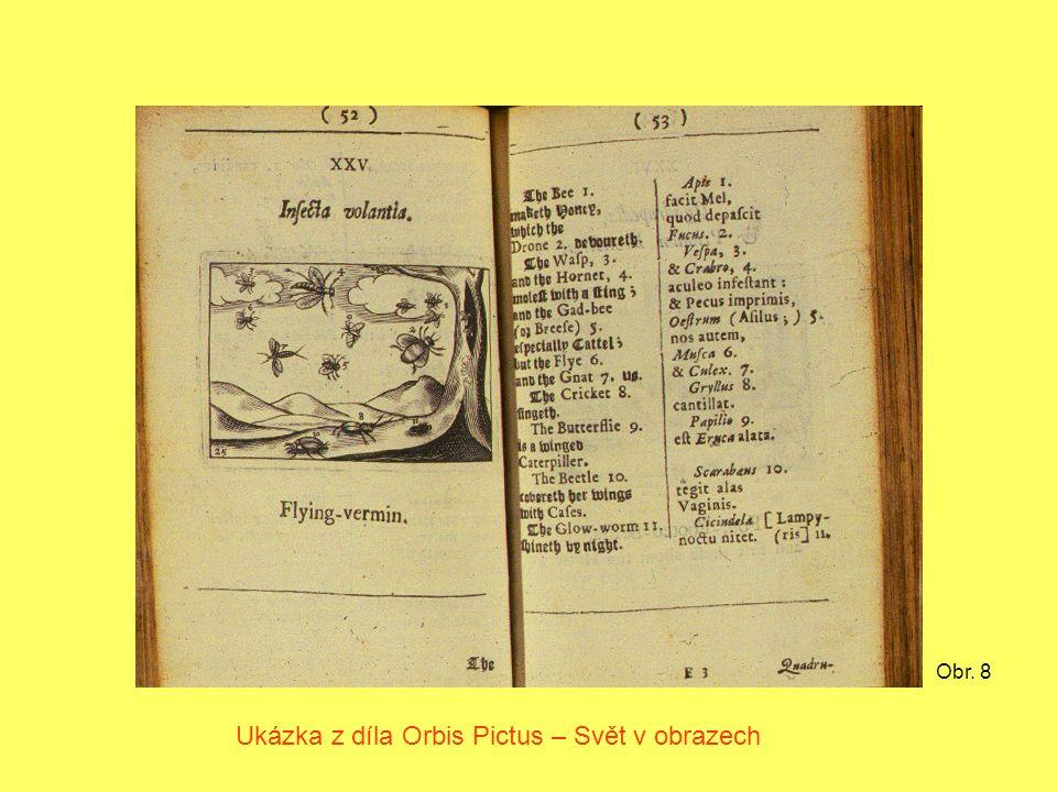 Ukázka z díla Orbis Pictus – Svět v obrazech