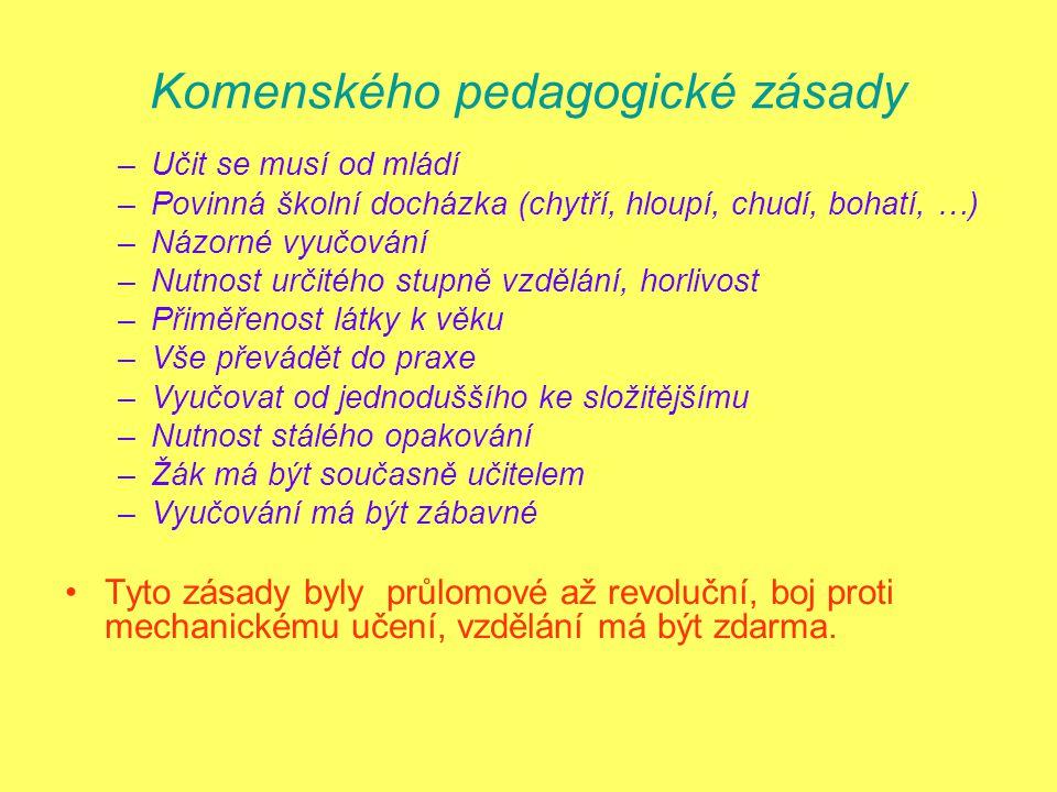 Komenského pedagogické zásady