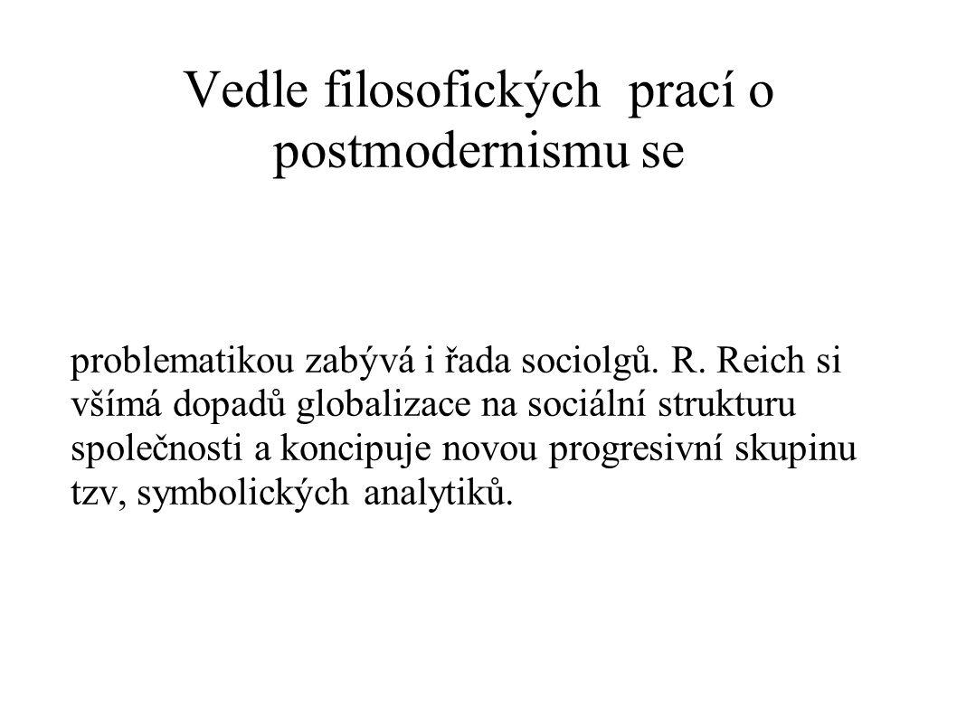 Vedle filosofických prací o postmodernismu se