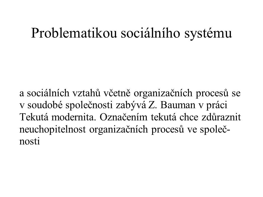Problematikou sociálního systému