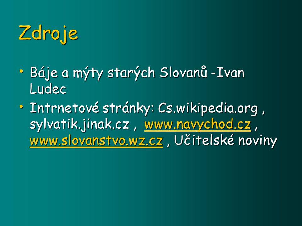 Zdroje Báje a mýty starých Slovanů -Ivan Ludec