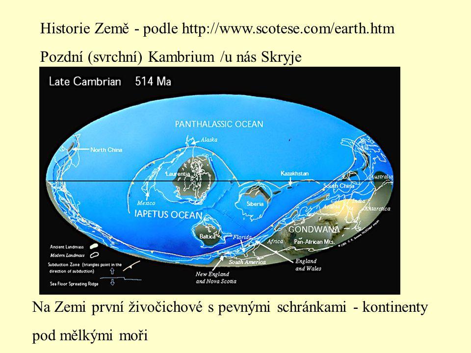 Historie Země - podle http://www.scotese.com/earth.htm