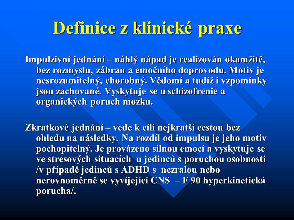Definice z klinické praxe