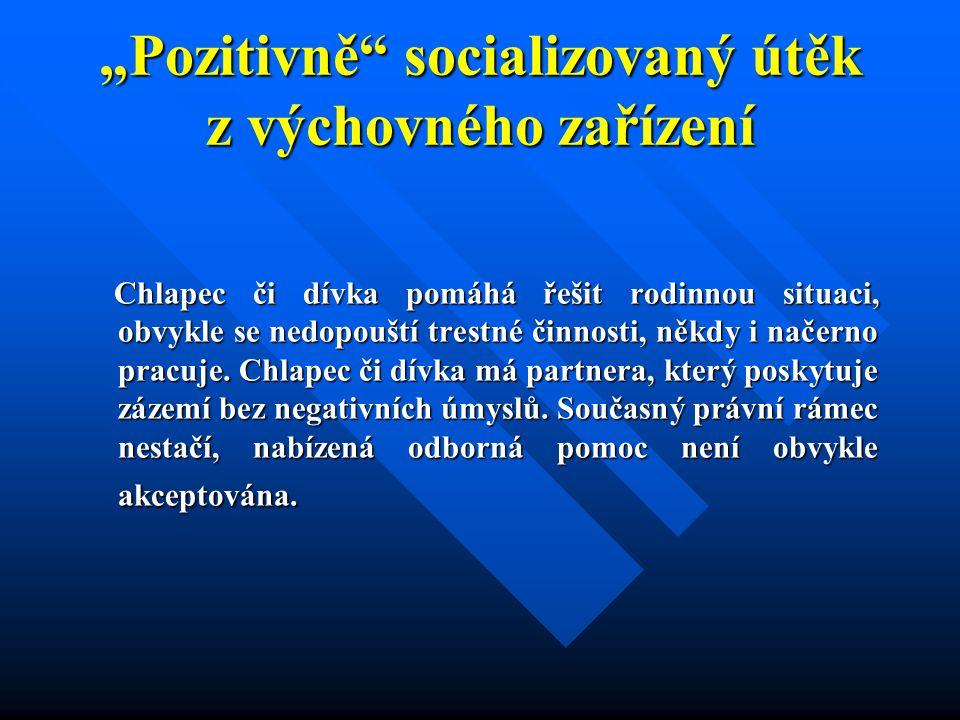 """""""Pozitivně socializovaný útěk z výchovného zařízení"""