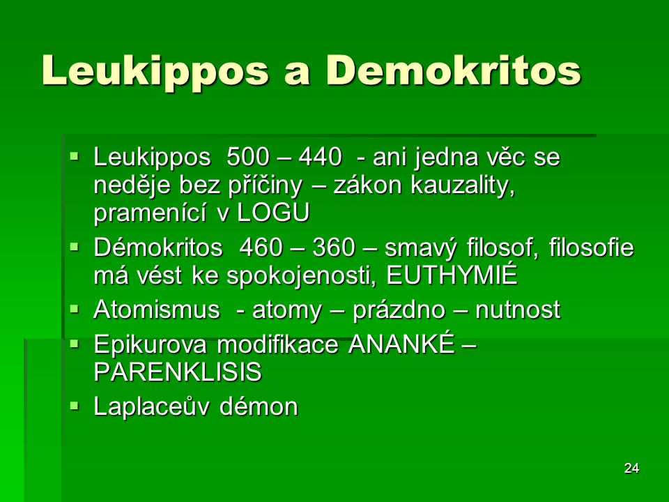 Leukippos a Demokritos