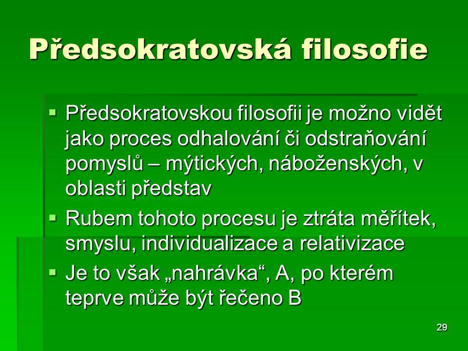 Předsokratovská filosofie