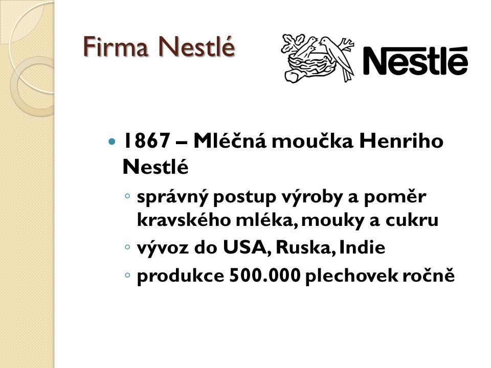 Firma Nestlé 1867 – Mléčná moučka Henriho Nestlé