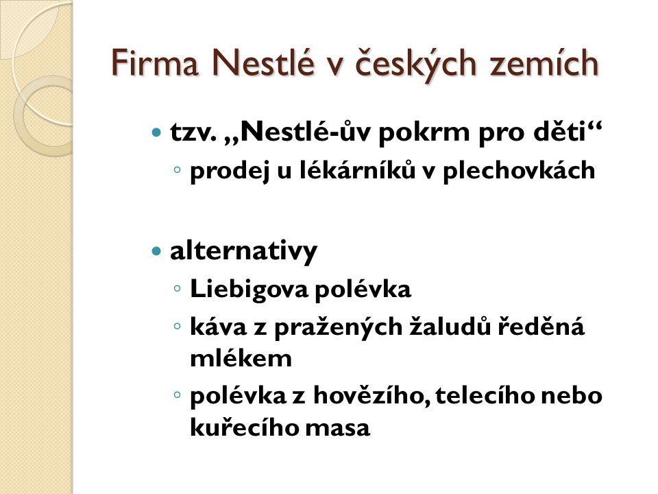 Firma Nestlé v českých zemích