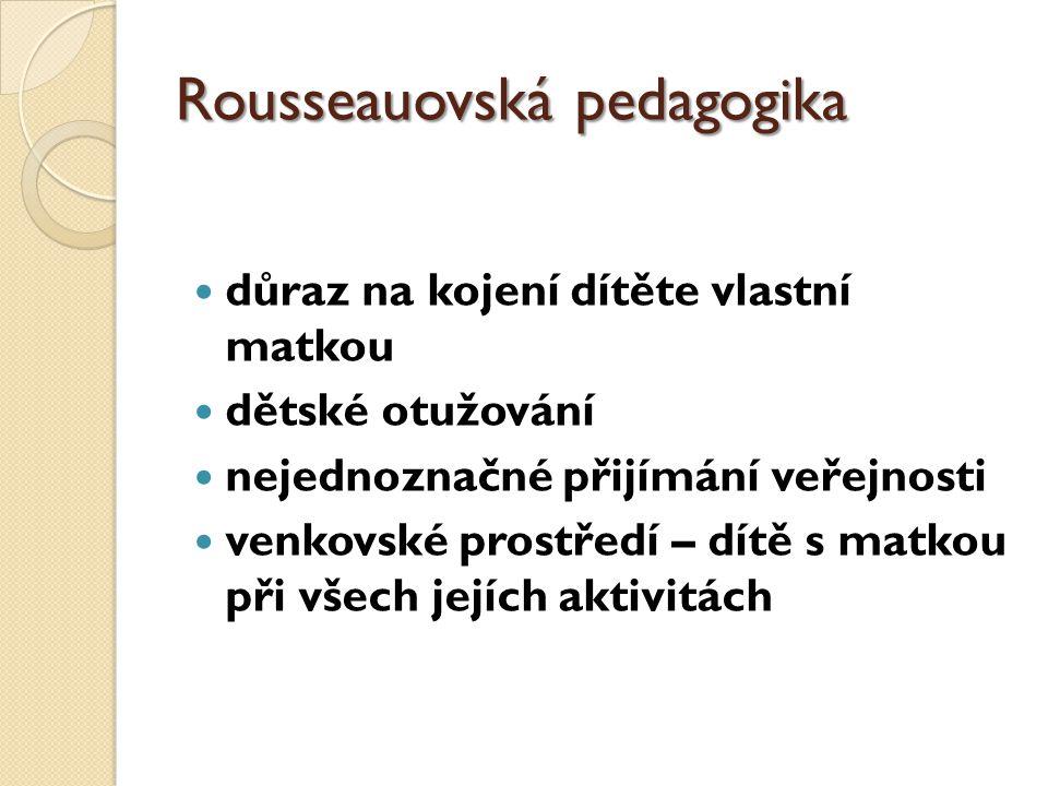 Rousseauovská pedagogika