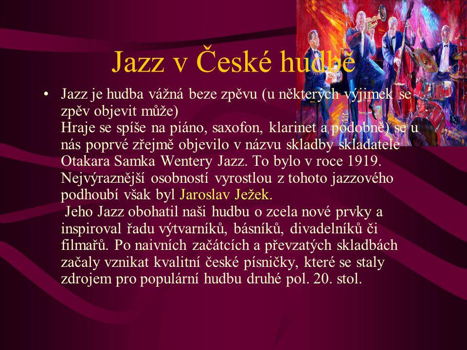 Jazz v České hudbě