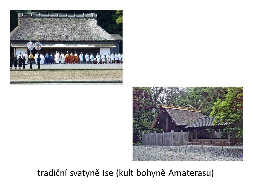 tradiční svatyně Ise (kult bohyně Amaterasu)