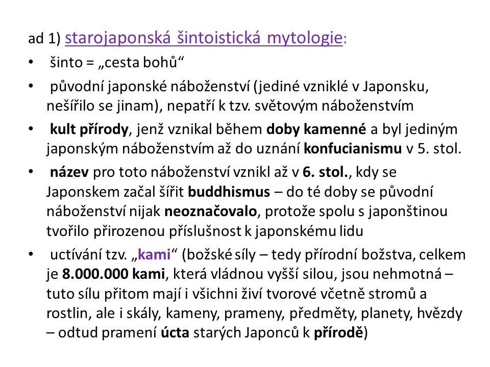 ad 1) starojaponská šintoistická mytologie: