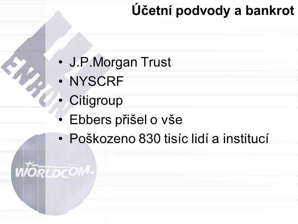 Účetní podvody a bankrot