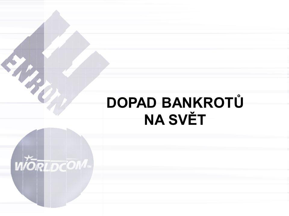 DOPAD BANKROTŮ NA SVĚT