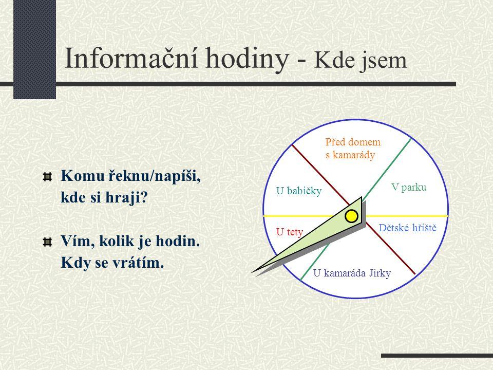 Informační hodiny - Kde jsem