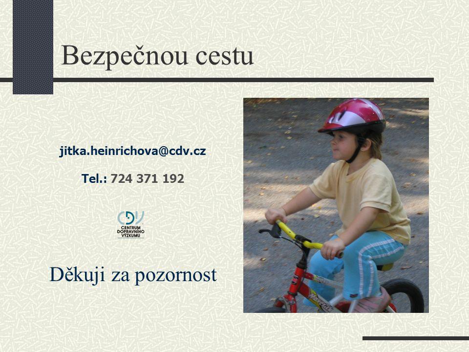 Bezpečnou cestu Děkuji za pozornost jitka.heinrichova@cdv.cz