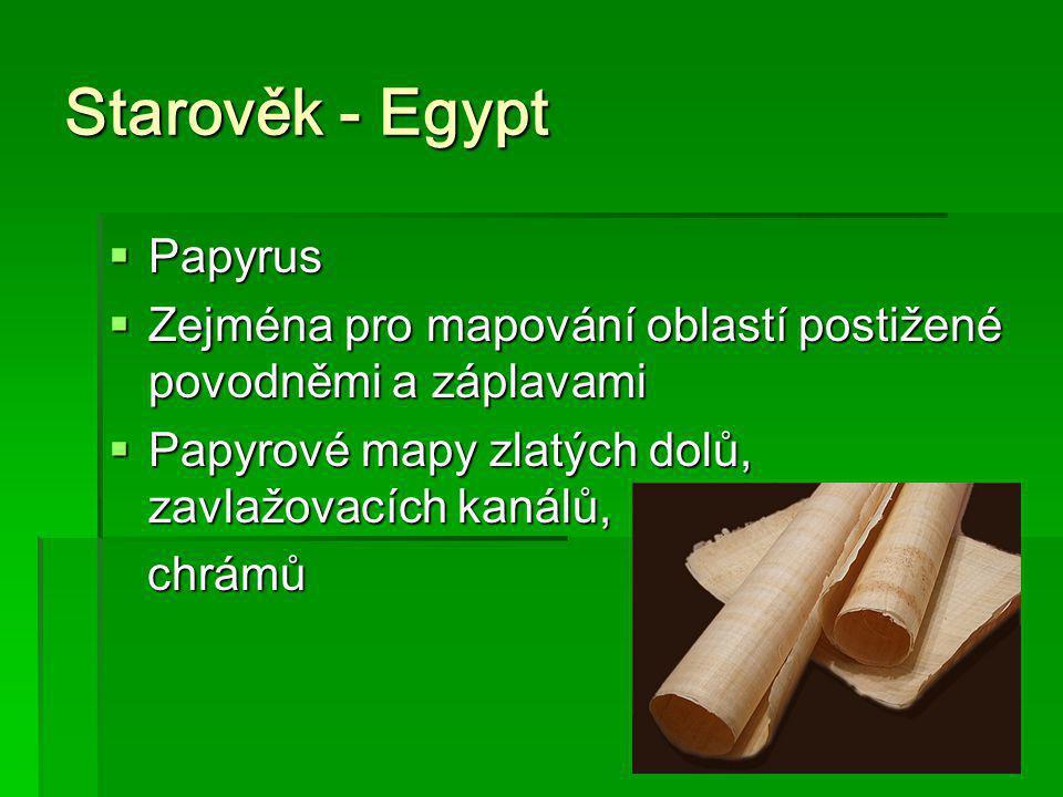Starověk - Egypt Papyrus