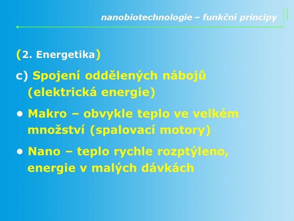 c) Spojení oddělených nábojů (elektrická energie)