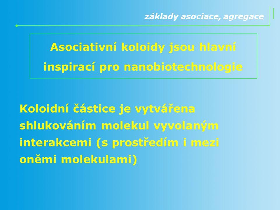 Asociativní koloidy jsou hlavní inspirací pro nanobiotechnologie