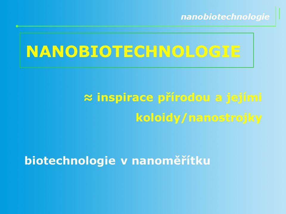 NANOBIOTECHNOLOGIE ≈ inspirace přírodou a jejími koloidy/nanostrojky