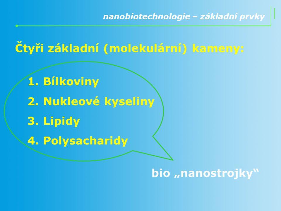 Čtyři základní (molekulární) kameny: