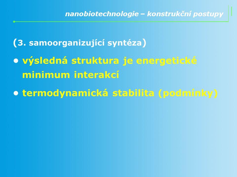 (3. samoorganizující syntéza)