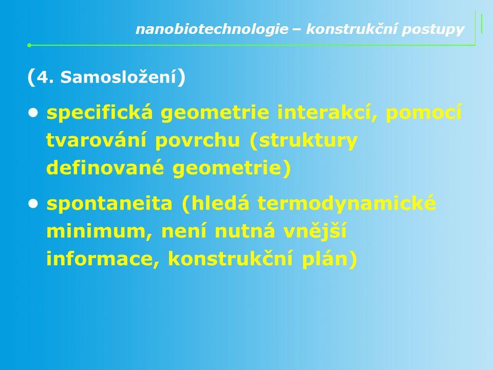 nanobiotechnologie – konstrukční postupy