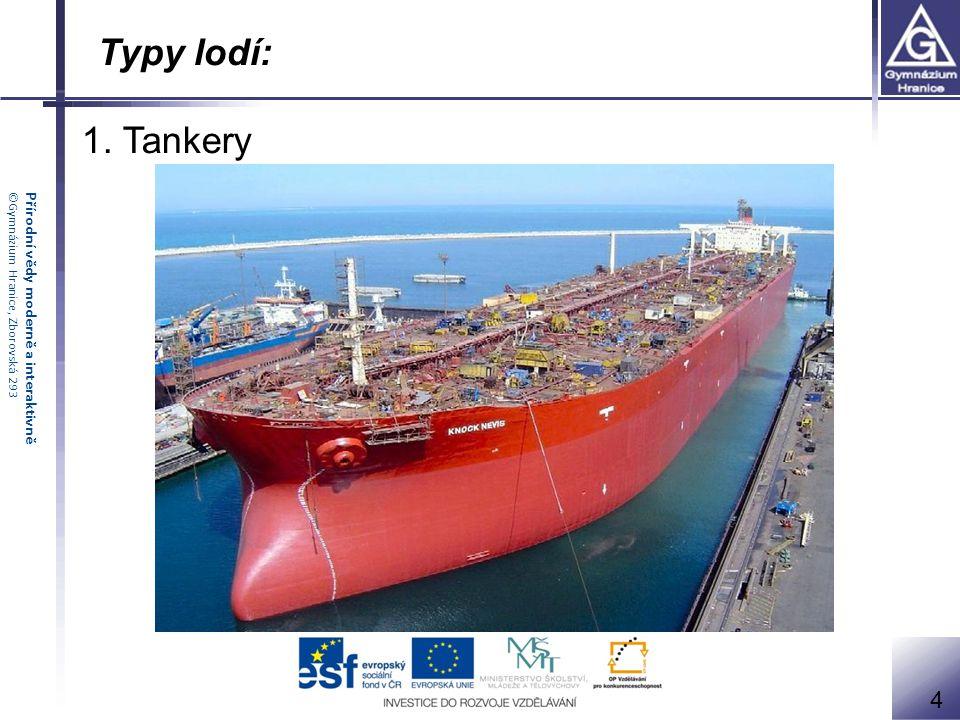 Typy lodí: 1. Tankery 4