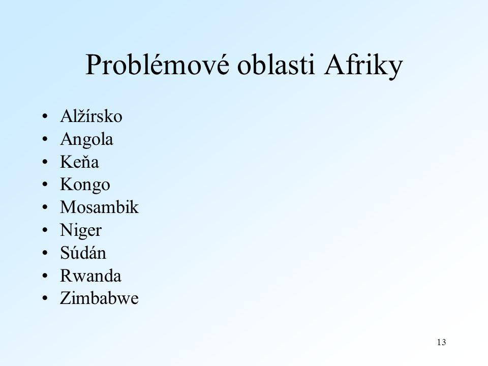 Problémové oblasti Afriky