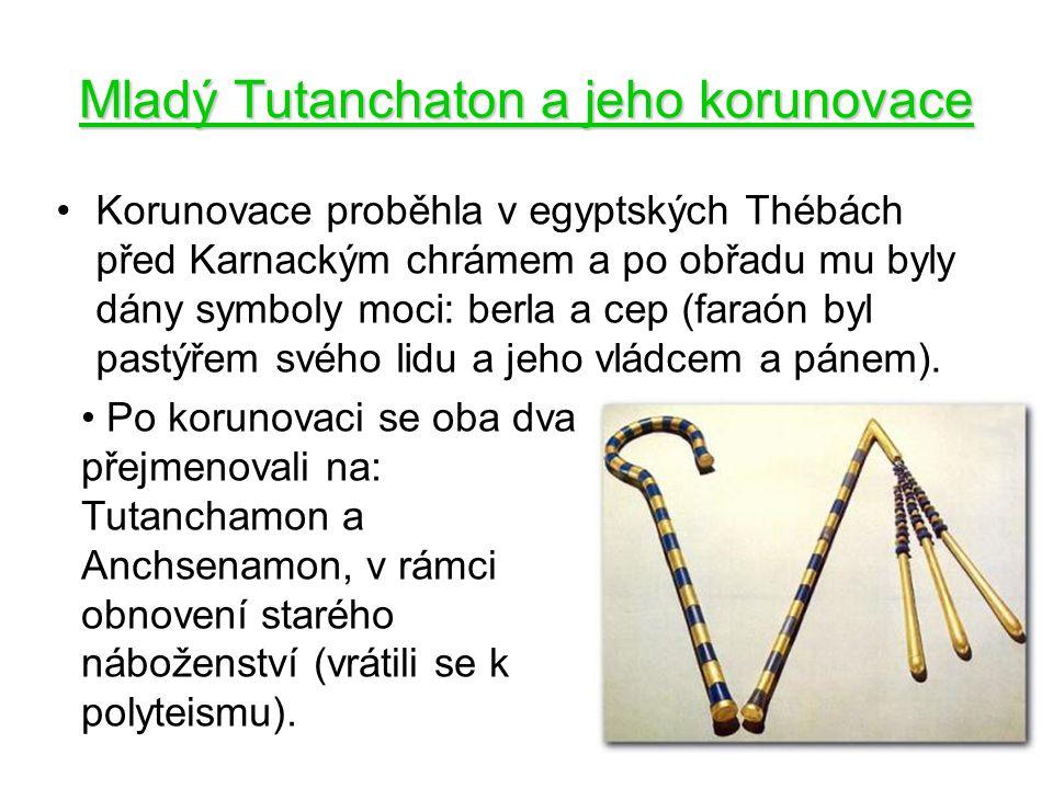 Mladý Tutanchaton a jeho korunovace