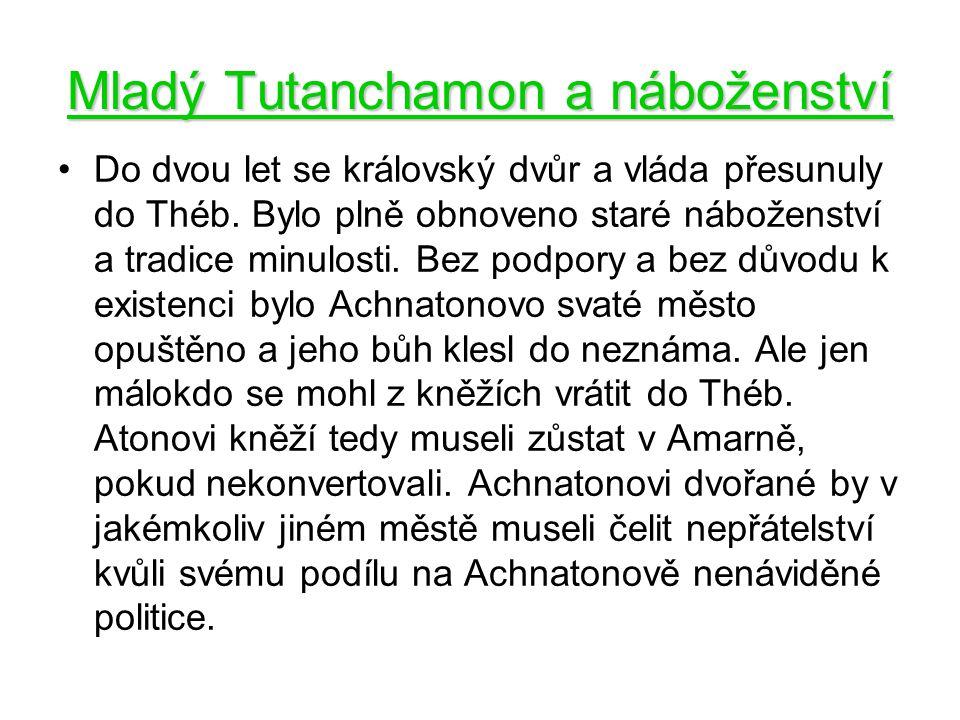 Mladý Tutanchamon a náboženství