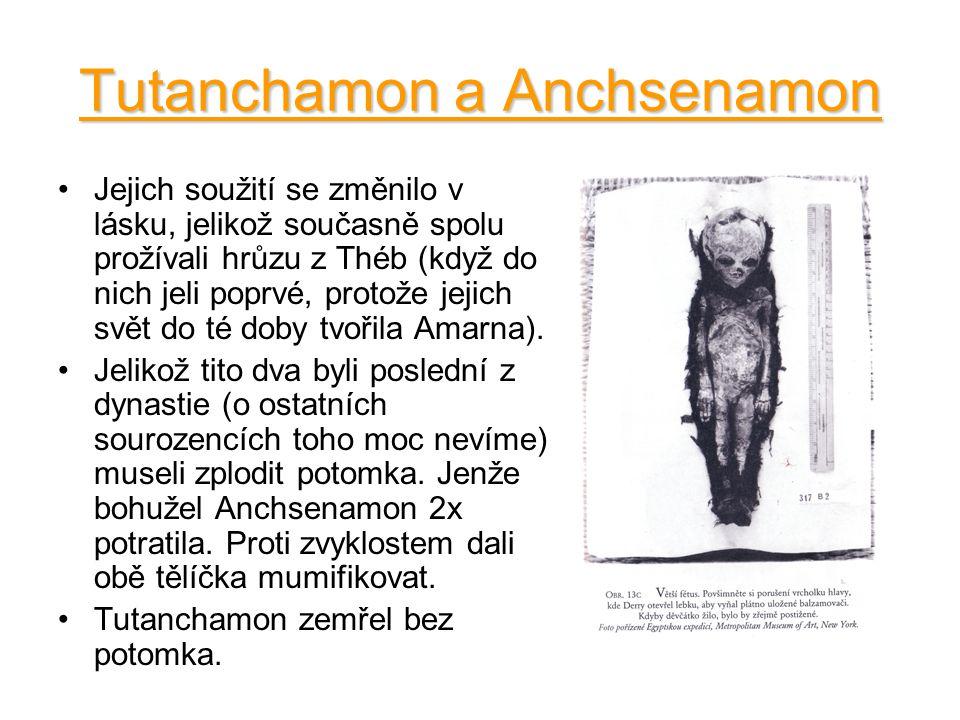 Tutanchamon a Anchsenamon