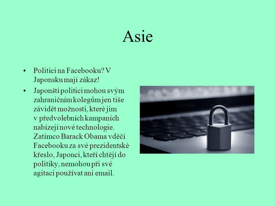 Asie Politici na Facebooku V Japonsku mají zákaz!